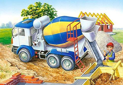Puzzle-60-Teile-Betonmischer-Baustellenfahrzeuge-Kinderpuzzle-fr-Kinder-Baustelle-LKW-Auto-Fahrzeuge