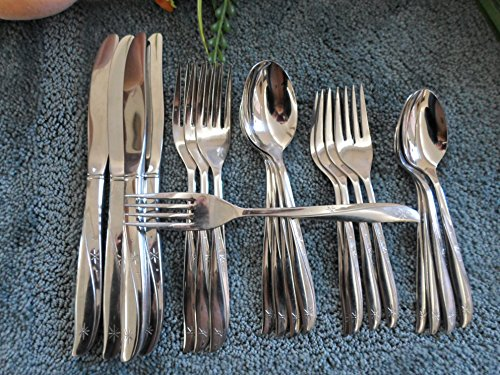 Oneida 18/8 USA Community Stainless Flatware Set TWIN STAR 20pcs Four Place Settings