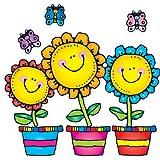 Carson Dellosa D.J. Inkers Blooming Flowers Bulletin Board Set (610049)