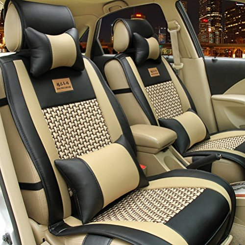 Opall Full Set 10pcs Needlework Pu Leather Front Rear Car Seat Cushion Cover For Dodge All Series Challenger Viper Charger Ram 1500 2500 3500 Dart Diesel Power Wagon Sprinter 5 Seats (Dodge Ram 2500 Seat Cushion compare prices)