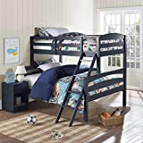 Dorel Living Brady Bunk Bed, Twin Over Full, Graphite Blue