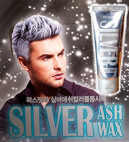 Silver Ash Hair Wax 3.53 oz Hair color Wax Contains 17 Natural plant extracts - Easy Coloring Hair Grey with No Damage (Silver Beard Dye compare prices)