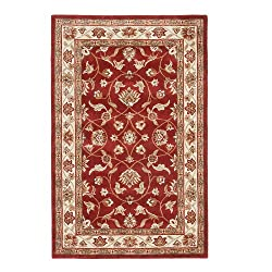 Riva Carpets Oreintal Melody Wool Area Rug (Red)