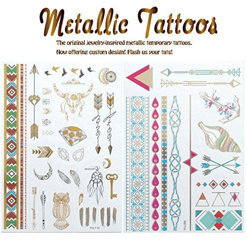 【2枚セット!!】 タトゥー tattoo ペーパータトゥー シール フェス ビーチ アクセサリー 刺青 ;2FTAT-037