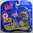 Littlest Pet Shop Assortment 'A' Series 3 Collectible Figure Cat with Sushi