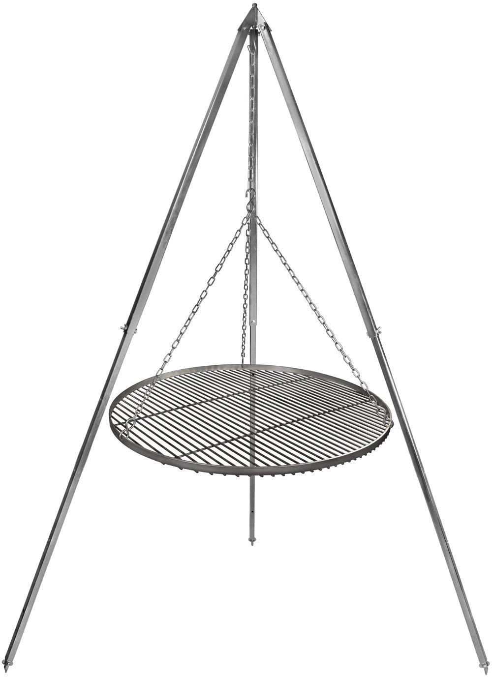 Schwenkgrill Grillrost Edelstahl 60 cm Durchmesser Dreibein 2,10 m verzinkt kaufen