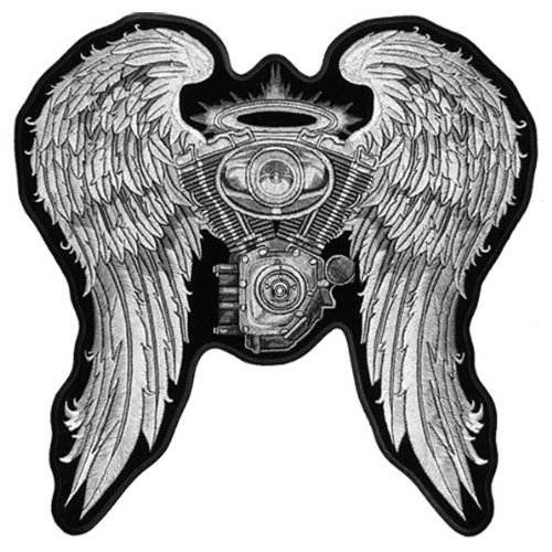 Hot Leathers Asphalt Angel Lady Biker Patch (5