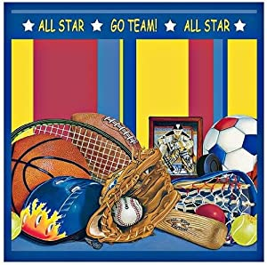 Amazoncom all star sports themed shower curtain bathroom for Sports themed bathroom decor