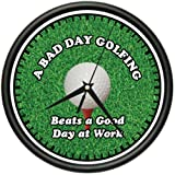 GOLFING 1 Wall Clock golfer golf club hat bag gift