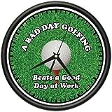 SignMission 1 Wall Clock Golfer Golf Club hat Bag Gift, Beagle, Golfing1