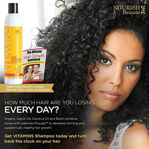 Hair Loss Shampoo VITAMINS Natural DHT Blocker Treatment for Faster