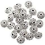 ILOVEDIY 100pcs Antique Silver Spacer European Wave Beads 6mm for Jewelry Making