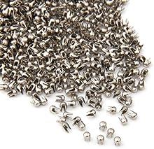 1000X Remaches Tachuelas Cobre Color Plata para Bolso Ropa 2.5mm