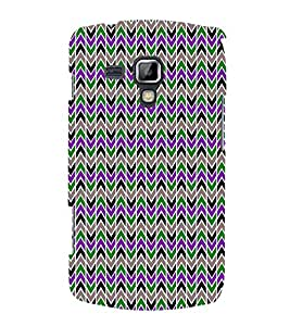Lovely Cross Chevron 3D Hard Polycarbonate Designer Back Case Cover for Samsung Galaxy S Duos S7562
