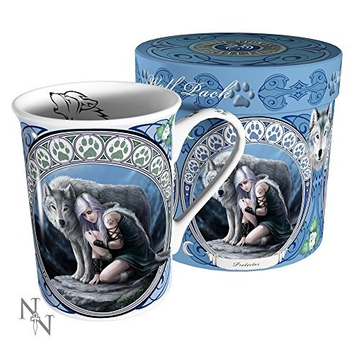 "Anne Stokes Collection Tazza con motivo ""Wolf Art"" di Anne Stokes"