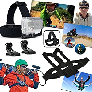 Xtech Travel and Hiking Accessories Kit for for GoPro HERO4 Session, Hero 4, 2, 1, Hero 4 Silver, Hero 4 Black, Hero 3, Hero3+, Hero 3 Silver, Hero 3 Black ( 21 Items) by Xtech GoPro TRAVEL and Hiking ACCESSORIES Kit