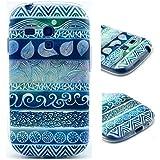 Dokpav® SAMSUNG Galaxy S3 mini Housse,Ultra Mince Etui Matériel De TPU de téléphonie mobile De Silicone Pour SAMSUNG Galaxy S3 mini-Broderie-bleu