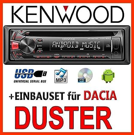 Dacia duster kenwood kDC - 164 uR autoradio cD/mP3/uSB avec kit de montage