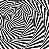 Artzloom Black And White Optical Illusion. Vasarely Optical Effect. Canvas Art Print With Frame - Size 20.5 Inch...