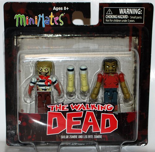 Walking Dead Minimates 2-Pack - Sailor Zombie and Leg Bite Zombie - 1