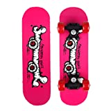Skateboard for kids - 17 Inch Mini Wooden Complete Skateboards for Beginners by Lapfome