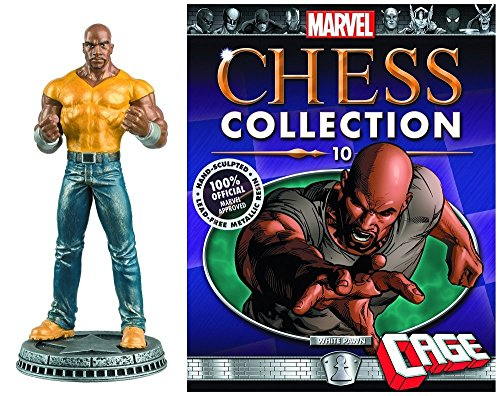 Marvel Chess Figure Collection #10 Luke Cage White Pawn with Magazine (Luke Cage Action Figure compare prices)
