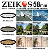 Zeikos ZE-FKS58 58mm Glass Ultra Slim Filter Kit (UV-CPL-W)