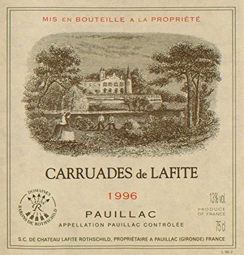 1996 Carruades De Lafite Rothschild Pauillac 750 Ml
