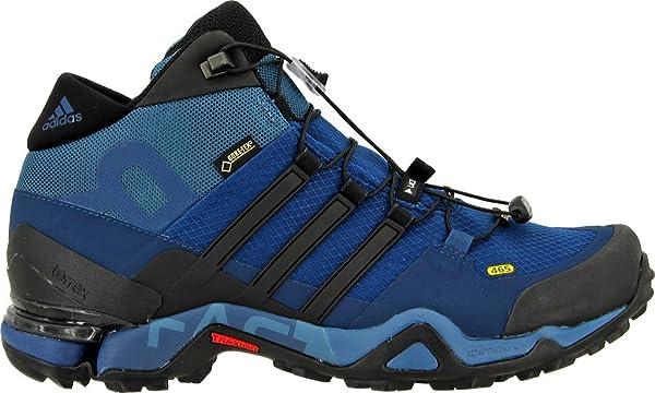 f9cb9b04bf3 adidas Outdoor Men s Terrex Fast R Mid GTX  Tech Steel Black Collegiate Navy  Boot 8 D ...