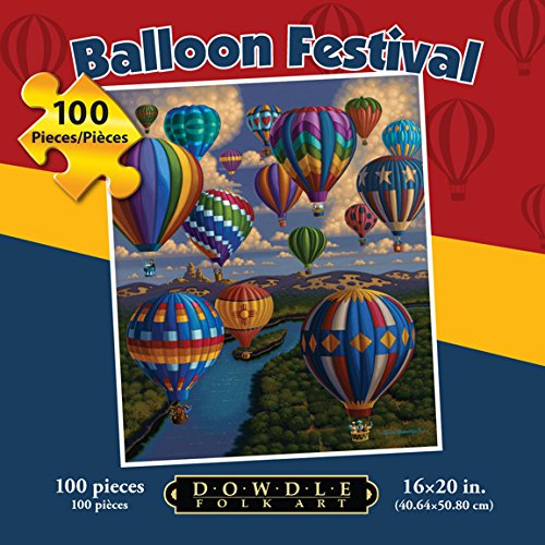 Jigsaw-Puzzle-Hot-Air-Balloon-Festival-100-Pc-By-Dowdle-Folk-Art