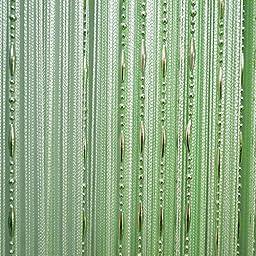 Beads Line Tassel String Window Balcony Door Curtain (Green)
