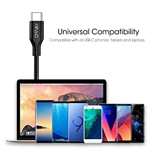 iRAG USB C Cable 6FT Braided Type C to A Charger Cord Fast Charging Compatible for Samsung Galaxy S10/S10e/S10 Plus/S9/S8/Note 8/9/10/LG Stylo 4/V40/V