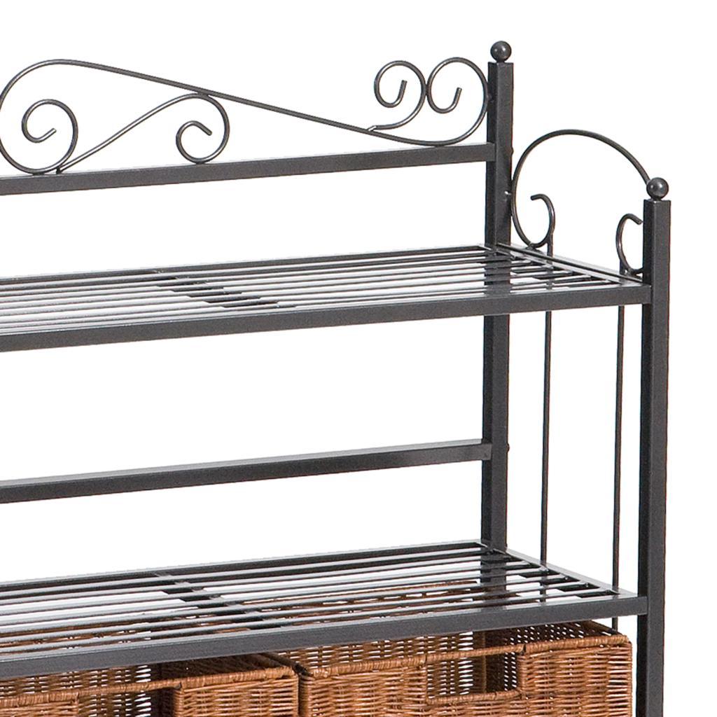 sei celtic 3 drawer storage shelf celtic bakers rack. Black Bedroom Furniture Sets. Home Design Ideas