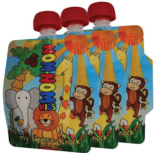 Nom Nom Kids Reusable Food Pouch (Pack Of 3)