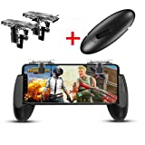 Mobile Game Controller, Game Pad Sensitive Shoot and Aim Keys Joysticks Game Controller for PUBG/Fortnite/Knives Out/Rules of Survival Gaming Triggers for iOS and Android by YSSHUI