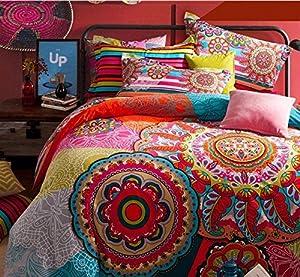 fadfay home textile boho style bedding set boho duvet cover set bohemian bedding set. Black Bedroom Furniture Sets. Home Design Ideas