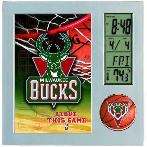 NBA Milwaukee Bucks Digital Desk Clock