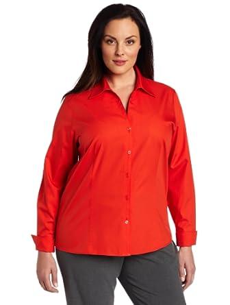 Jones new york women 39 s no iron easy care shirt nectarine for Jones new york no iron easy care boyfriend shirt