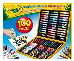 Crayola - Maletín para colorear con 100 accesorios (+4
