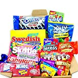 Medium American Sweet Hamper Candy/Chocolate/Wonka/Nerds Christmas/Birthday Gift - in a White Card Box - Version 2