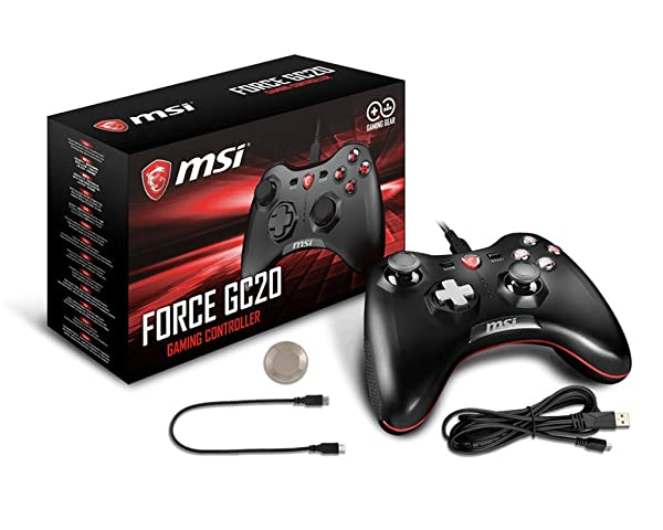 MSI Force GC20 USB Wired Controller Gamepad for Windows PC Android PS3 Stream