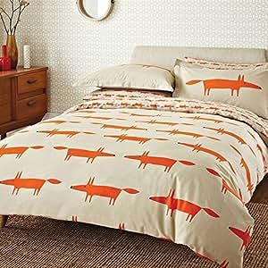 scion bedding mr fox parure de lit pour lit double motif renard beige cuisine maison. Black Bedroom Furniture Sets. Home Design Ideas