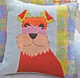 Unknown Dog Motif Cushion Cover Sewing Pattern: Measurements 40cm x 40cm (Womans Weekly Pull Out Pattern)