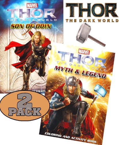 THOR: The Dark World Coloring and Activity Book Set (2 Books ~ 96 pgs each)