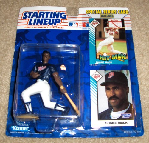 1993 - Kenner / MLB - Starting Lineup - Shane Mack / Minnesota Twins Figure - Special Series Cards Included - Out of Production - Limited Edition - Collectible