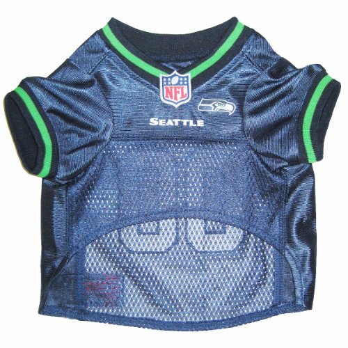 Pets First Nfl Seattle Seahawks Jersey, X-Small front-113626