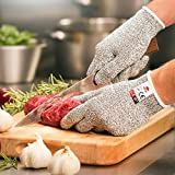 NoCry Cut Resistant Gloves - High Performance Level 5 Protection, Food Grade. Size for Kids. Free eBook Included!