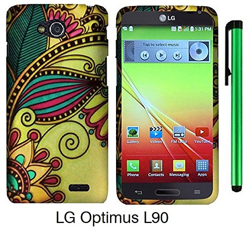 Premium Vivid Design Snap-On Protector Hard Cover Case For Lg Optimus L90 (D415) (Us Carrier: T-Mobile) + 1 Of New Assorted Color Metal Stylus Touch Screen Pen (Antique Totem)