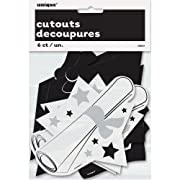 Unique Mini Graduation Cutout Decorations 6 Count