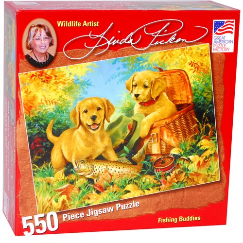 Great American Puzzle Factory Fishing Buddies 550 Piece Puzzle
